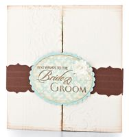 Bride & Groom Wishes Card by @Betsy Veldman - supplies and instructions included