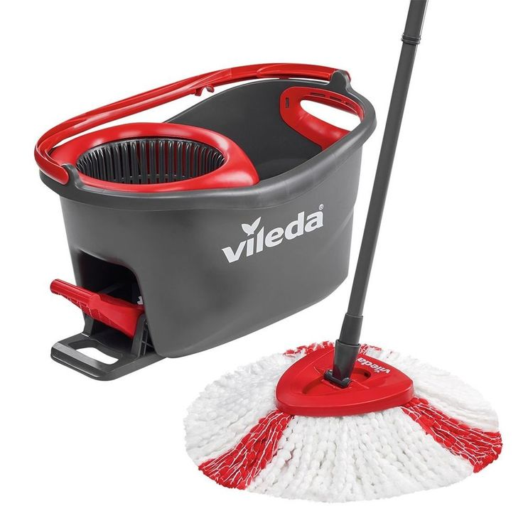 Microfibre Mop and Bucket Set Vileda Easy Wring and Clean Turbo