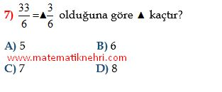 kesirler soru www.matematiknehri.com
