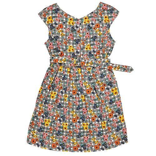 Cara Blue Floral Dress