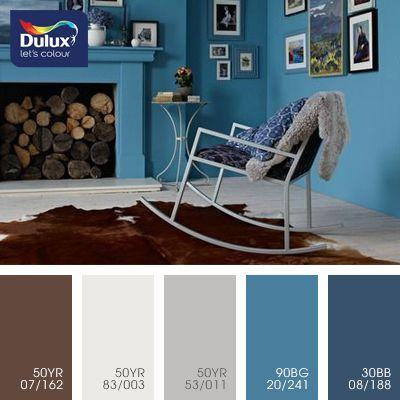 Привет от пушистой зимы. Довольно простая, но милая палитра в холодных красках. Свежие глубокие оттенки синего отлично играют на фоне светлых, полупрозрачных тонов. Такие краски в зависимости от насыщенности цвета можно применять как в просторных, так и в небольших помещениях. Прекрасное дополнение светло-коричневого создает ощущение дома и уюта.