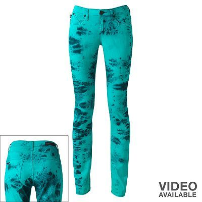 Rock and Republic Berlin Tie-DYe emerald Green & Black Skinny Jeans - Kohl's I think I would like these just not in jeans maybe a shirt.