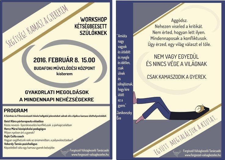 Szunyogh Krisztina Forgószél kamasz rendezvény szórólap | Kreatív Webdesign Tanfolyam
