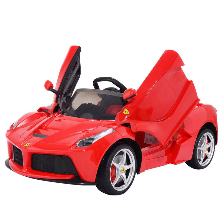 12v laferrari kids ride on car battery powered rc remote control mp3 led lights