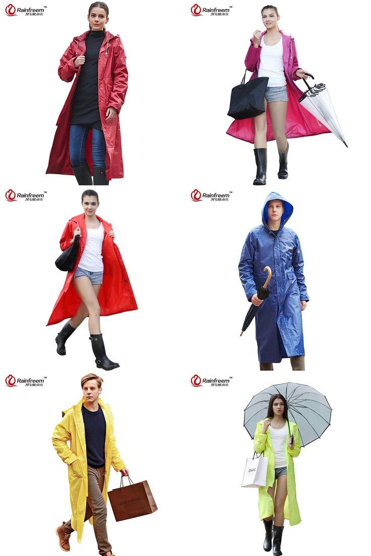 [Visit to Buy] Rainfreem Impermeable Raincoat Women/Men Waterproof Trench Coat Poncho Double-layer Rain Coat Women Rainwear Rain Gear Poncho #Advertisement