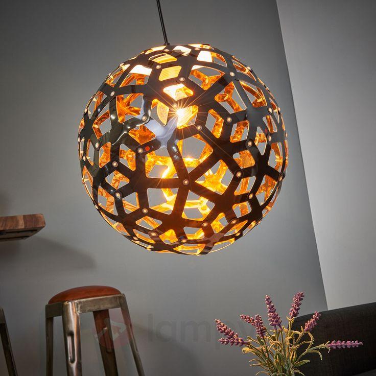 Czarno-miedziana lampa wisząca URANUS bezpieczne & wygodne zakupy w sklepie internetowym Lampy.pl.