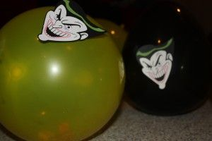 Stomp on Joker. Fill Joker balloons with candy.
