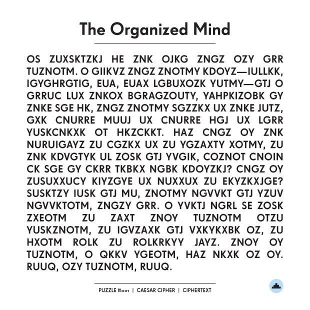 Long Beach Post - The Organized Mind: Caesar Cipher