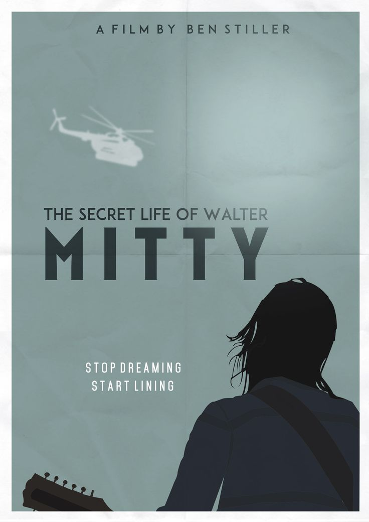 The Secret Life of Walter Mitty  Minimalist Poster    Comedy.