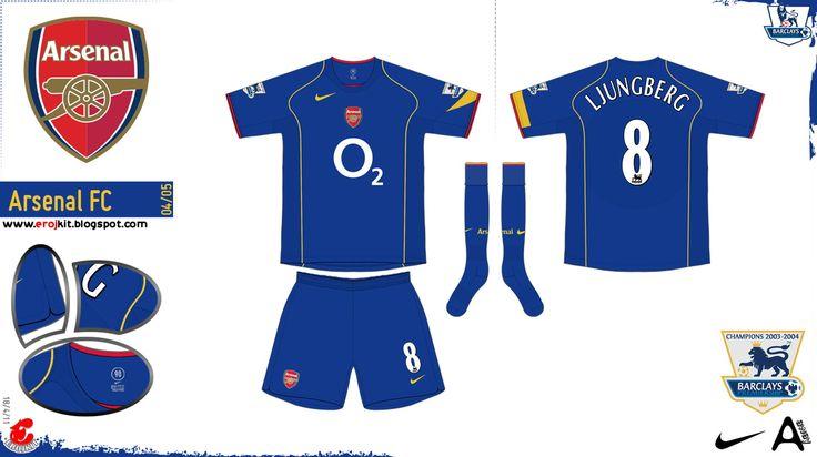 Arsenal Kit 2004-2005 Away 1