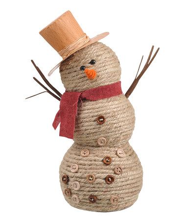 Jute Snowman Figurine by Grasslands Road on #zulily!