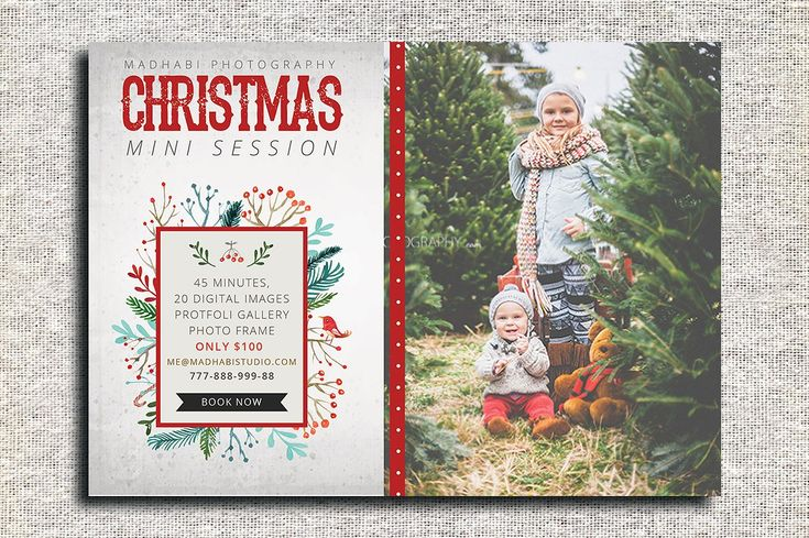 Christmas Mini Session Template by Madhabi Studio on @creativemarket