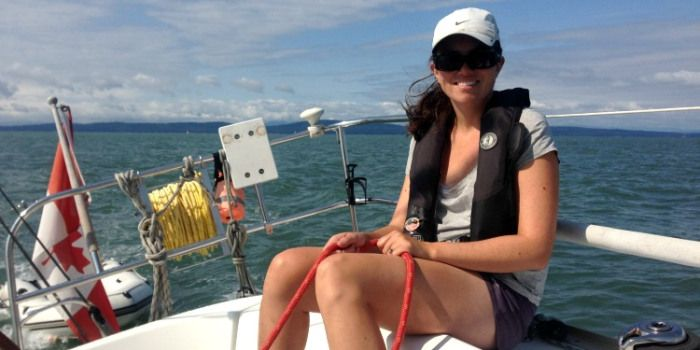 The excitement of solo sailing...sort of!