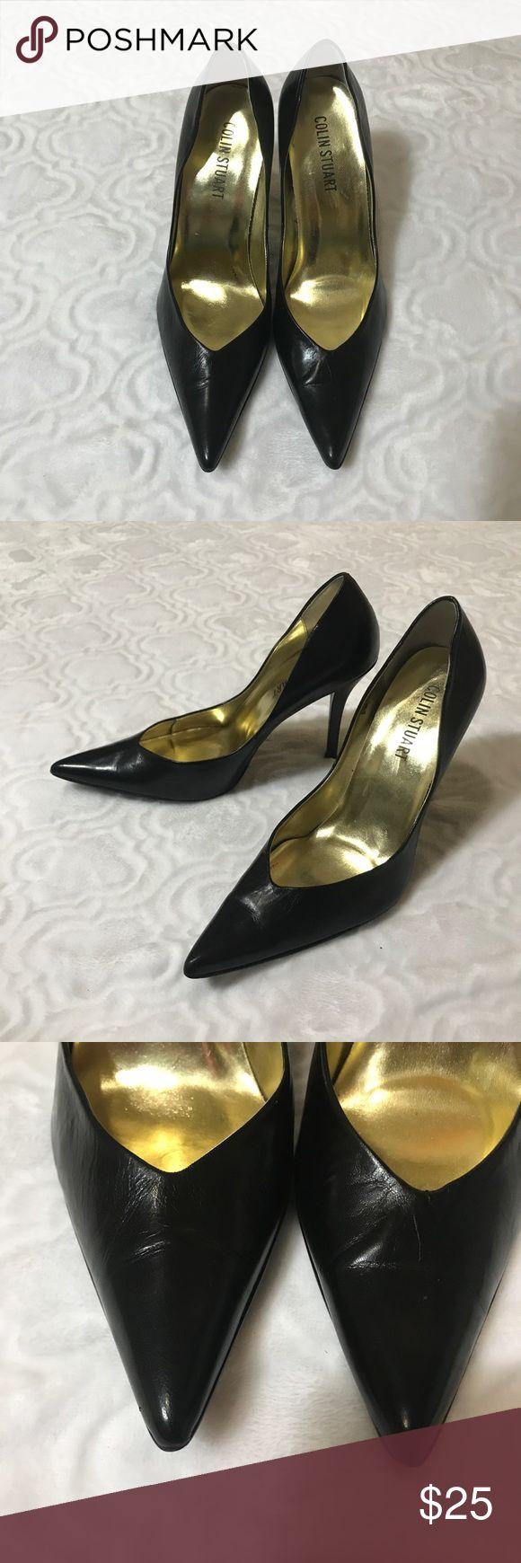 Colin Stuart stilettos Black leather Colin Stuart stilettos, lining is a little loose, size 8.5 Colin Stuart Shoes Heels