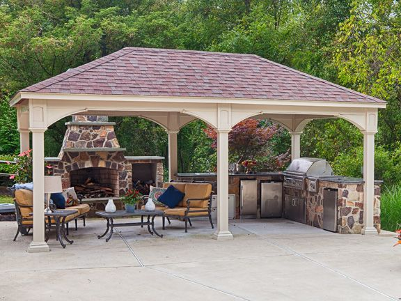 Image Result For 14x20 Outdoor Patio Kitchen Backyard Pavilion Porch Design Gazebo Plans