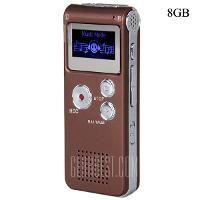8GB Handheld LCD Screen Mini Digital Voice Recorder with FM Radio   Coffee