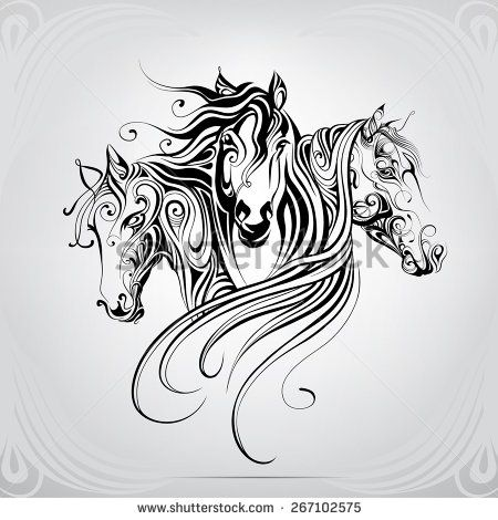 17 meilleures id es propos de tribal horse tattoo sur pinterest art th me cheval dessins. Black Bedroom Furniture Sets. Home Design Ideas