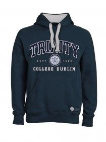 Trinity Unisex Hood Embroidered Navy