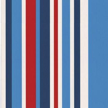 Superfresco Easy vliesbehang 2203-40 streep rood/wit/blauw 10 meter in de beste prijs-/kwaliteitsverhouding, volop keuze bij GAMMA