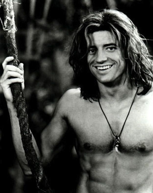 Remember when George was BRENDAN FRASER and PEOPLE WERE NOT THE SAME AFTER THEY SAW HIM??? | George Of The Jungle Was The Ultimate Hunk Of The '90s