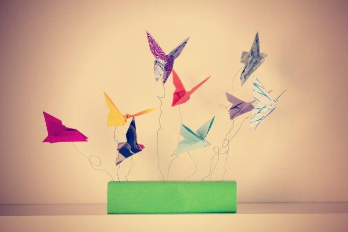 "Do It Yourself : Le mobile ""Envol de papillons"" {Origami}"