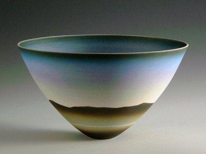 Ceramics by Peter Lane at Studiopottery.co.uk - Mountain Sky - Winter, porcelain.