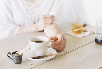 White concept of black coffee Mornings arę the best with your Fav cup