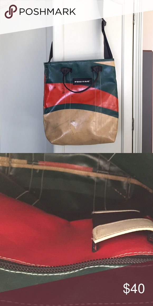 Medium sized Freitag bag, barely used Swiss bag made from recycled truck canvas Freitag Bags Satchels