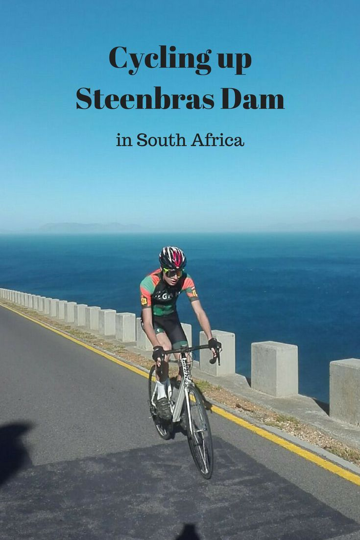 Cycling up Steenbras Dam in South Africa. This has to be one of the most beautiful climbs to cycle up in the world.