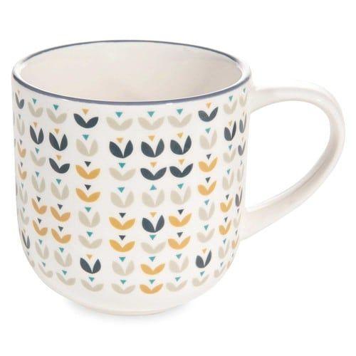 Mug in maiolica con motivi floreali PORTOBELLO