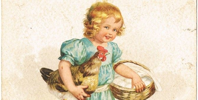 The Young Girl and the Hen