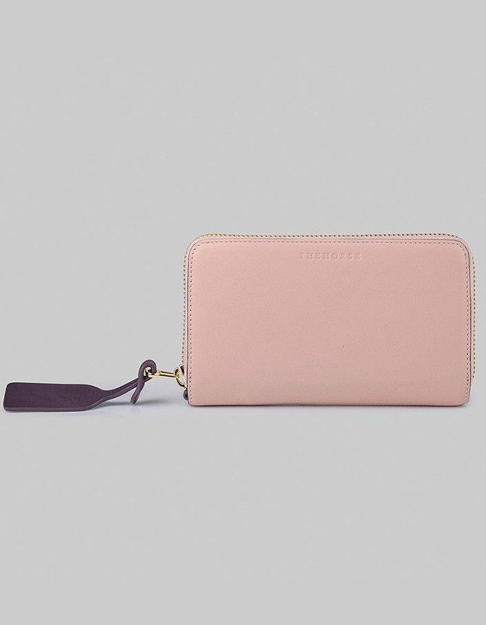 The Block Wallet - Blush/Plum/Tan