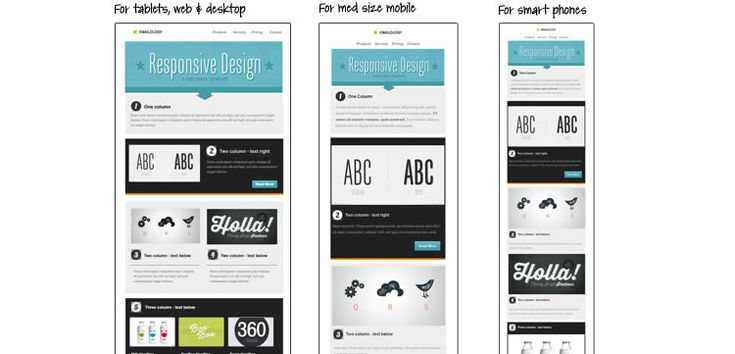 Free responsive email templates from Speckyboy