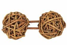 Willow dumbell, smådjurshantel av pilträ i 2-pack