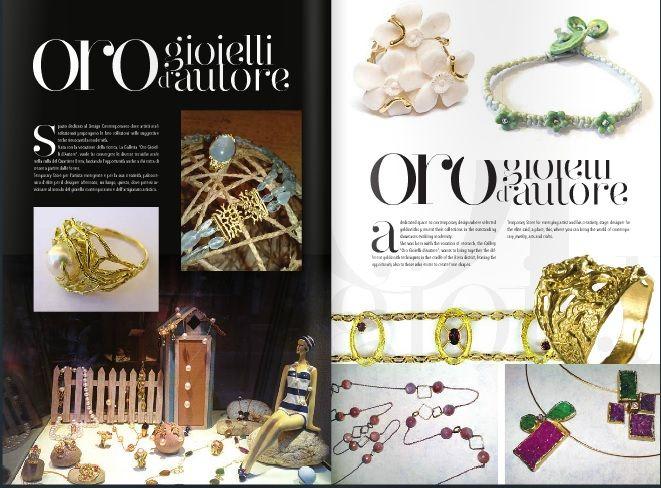 Parlano di noi.... Vicenza Oro magazine - Gennaio 2014