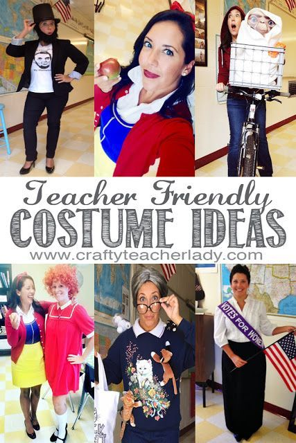 Teacher Friendly Halloween Costume Ideas! So many great ideas for fun (and funny), school appropriate costumes for teachers!