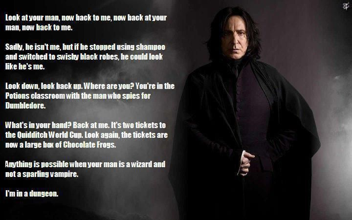 I freaking LOVE this!Severus Snape, Alan Rickman, Culture Geek, Wizards, Funny, Geeky Girls, Harry Potter, Spices, The Voice
