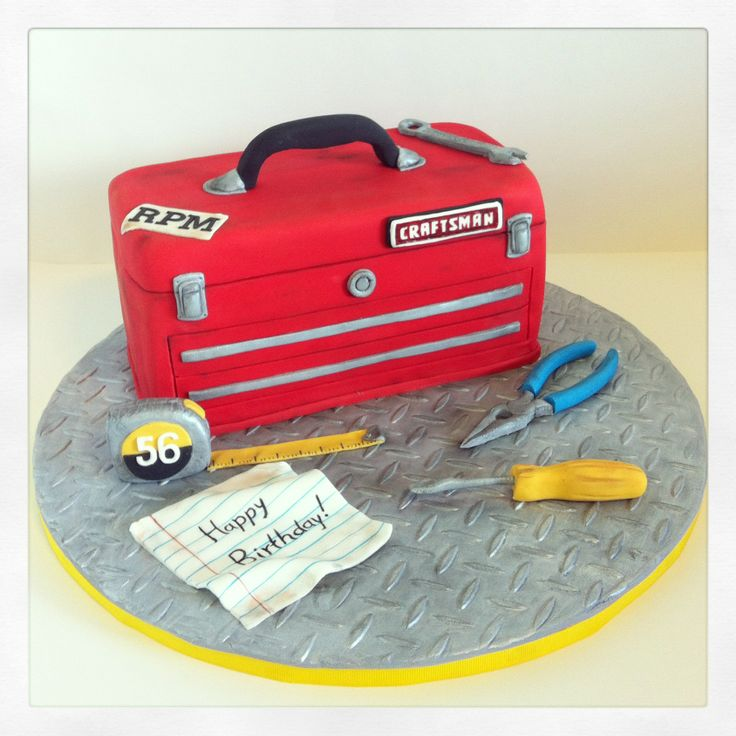 tool box birthday cake photos 2