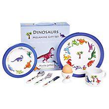 Buy Martin Gulliver Dinosaurs Melamine Dinner Set Online at johnlewis.com