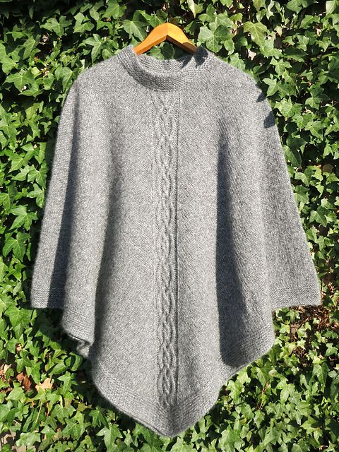 Best 20 Ponchos images on Pinterest | Knits, Knitting patterns and ...