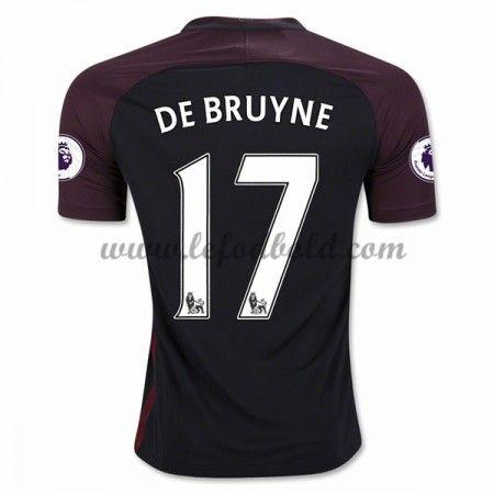 Billige Fodboldtrøjer Manchester City 2016-17 De Bruyne 17 Kortærmet Udebanetrøje