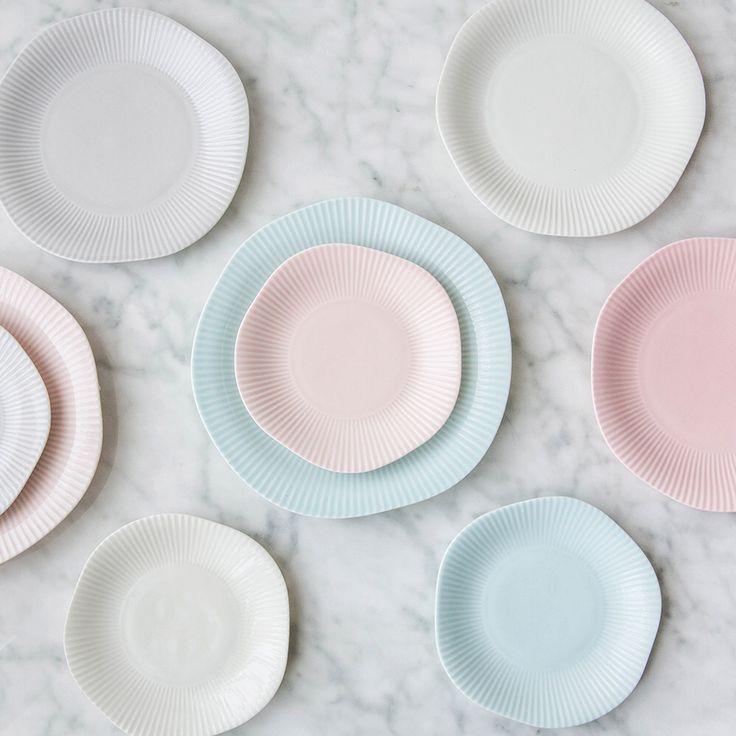 Творческий Нерегулярные Полосатый Керамическая Посуда 4 Цветов Тарелки Мелкие Западные Styleplatos Де Porcelana Наборы Посуды