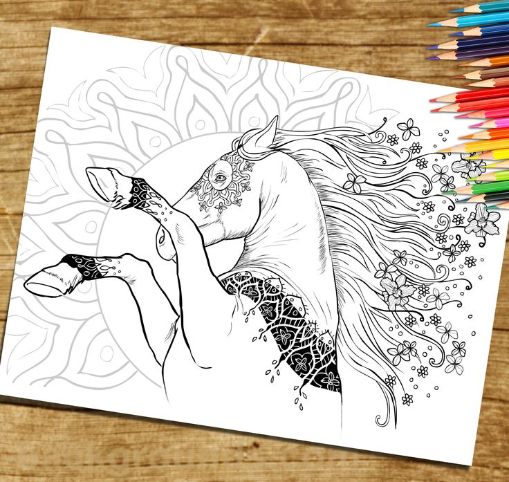 Adult Coloring Book Page From For By SelahWorksArt