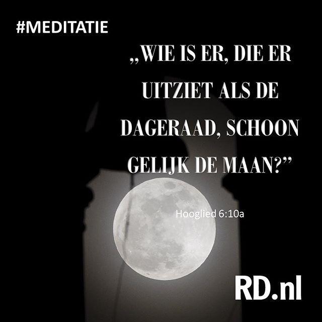 """#RDnl Onze meditatie gaat vandaag over de maandag. """"Zoals de maan zijn schijnsel van de zon ontvangt, zo heeft de kerk haar glans van Christus."""" RD.nl/meditatie beeld AFP #maandag #meditatie #christelijk #geloof"""