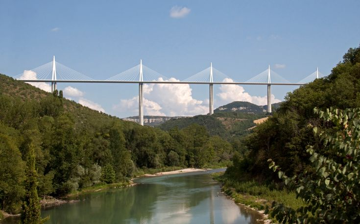 The Tarn also happens to run beneath the world's tallest viaduct; the Millau Bridge which is a staggering 343 metres high
