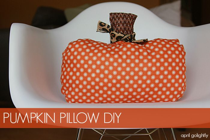 Fall Pumpkin Pillow DIY by April Golightly
