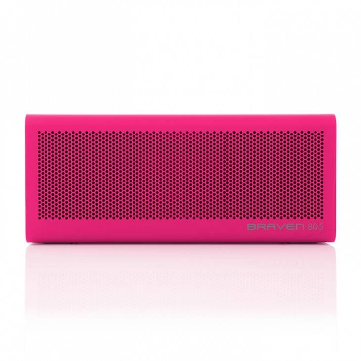 BRAVEN 805 Wireless Bluetooth Speaker - Magenta -  AUDIO  2 high-sensitivity drivers 2 passive radiators Dual-band limiters Built-in microphone & speakerphone SRS WOW HD bass-enhanced music...