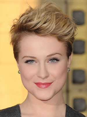 One of these days I'll cut it all off again. Maybe like Evan Rachel Wood?