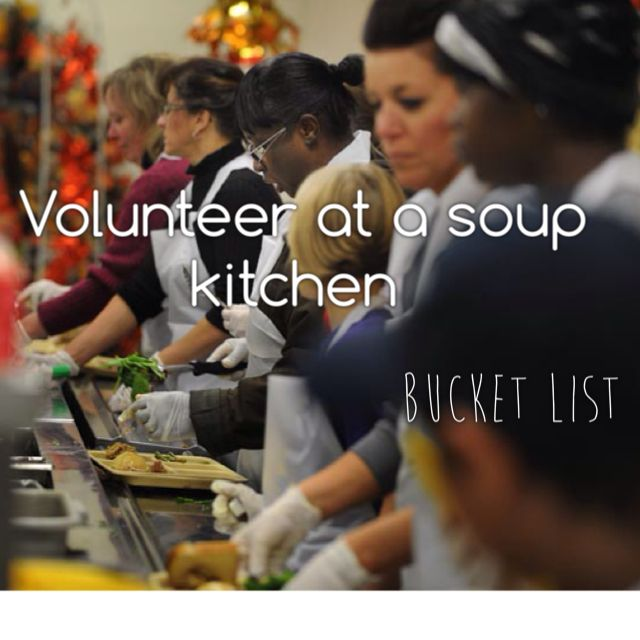#17 Volunteer at a Soup Kitchen .... You get a days paid leave for it from work... This is if can't volunteer in Cambodia... Just volunteer this year