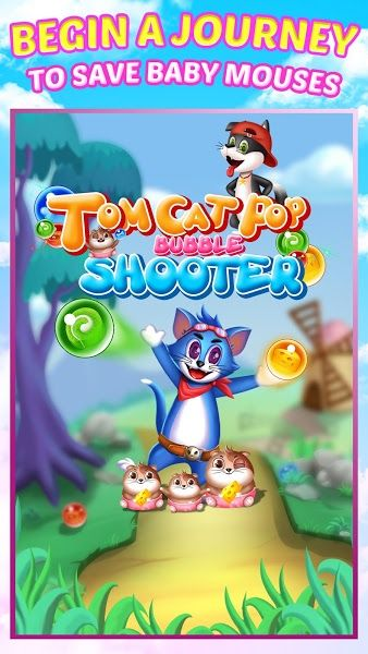 Tomcat Pop: Bubble Shooter v1.2.1 [Mod] Apk Mod  Data http://www.faridgames.tk/2017/06/tomcat-pop-bubble-shooter-v121-mod-apk.html